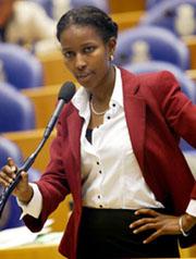La diputada liberal Ayaan Hirsi Ali